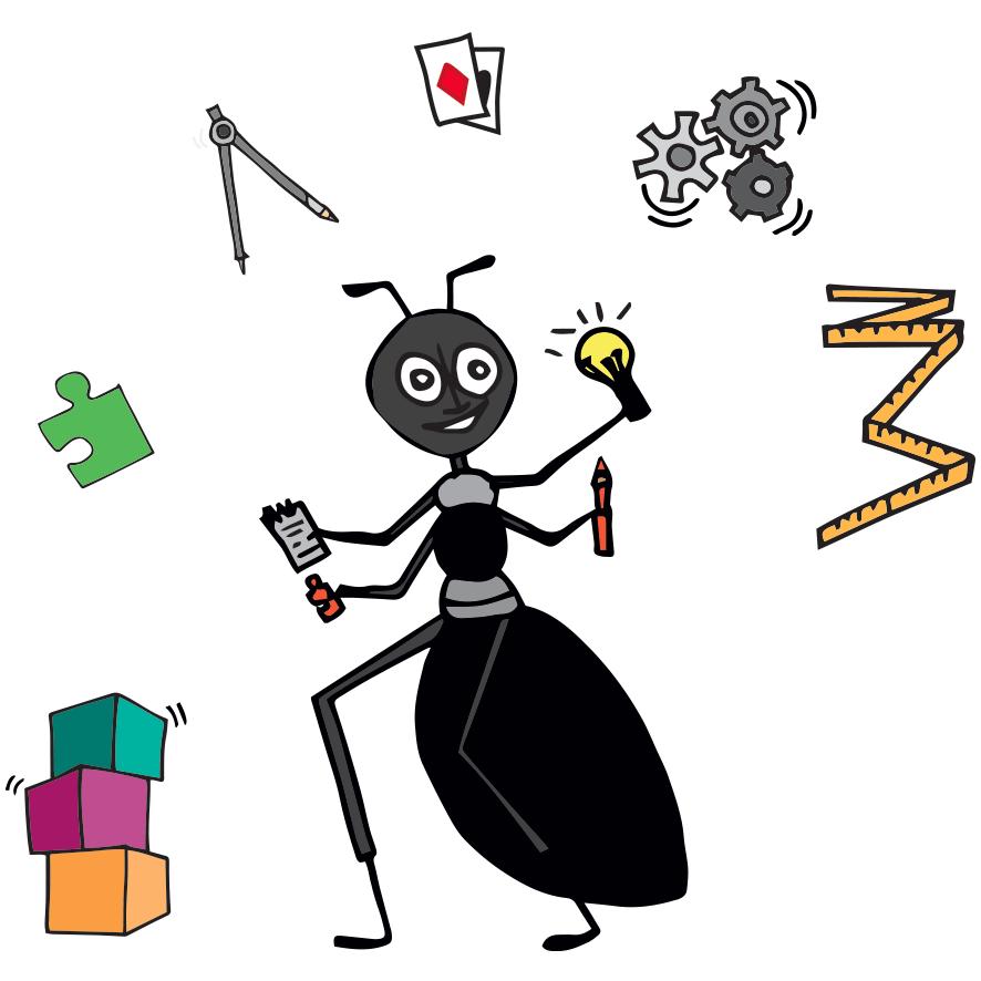 fourmi - pédagogie et communication par le jeu