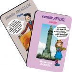 Le jeu de cartes présente une grande souplesse pour s'adapter à beaucoup de projets. Les sources d'inspiration sont multiples : jeu des 7 familles pour regrouper par thèmes, uno pour créer des suites logiques, mille bornes pour des procédures par exemple, jeu de réussite pour des arrangements...