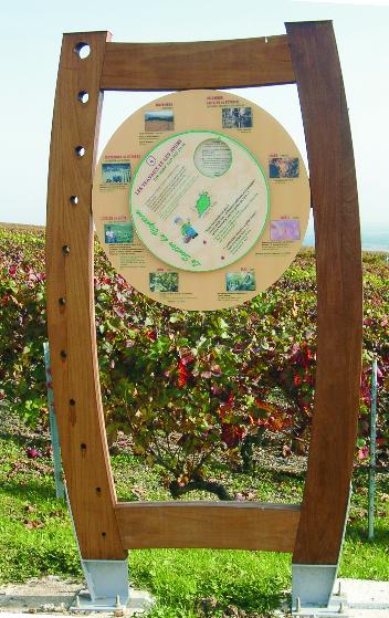 Jeu avec roue calendrier de la vigne