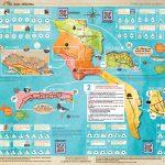 Chasse au trésor à partir d'une carte géographique comportant des indices à gratter